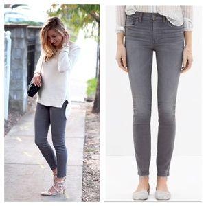 [Madewell] Dusty Grey High Riser Skinny Jeans